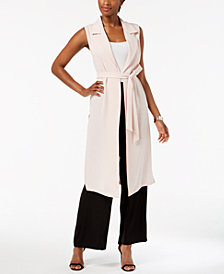 Nine West Duster Vest & Wide-Leg Pants