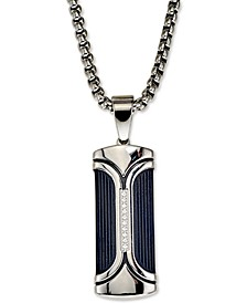 "Diamond Accent Dog Tag 22"" Pendant Necklace, Created for Macy's"
