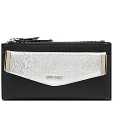 Nine West Double Zip Wallet With Pouch