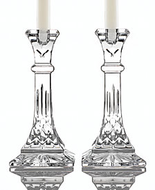 "Waterford Gifts Lismore Candle Holders 8"", Set of 2"