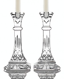 """Waterford Gifts Lismore Candle Holders 8"""" Pair"""