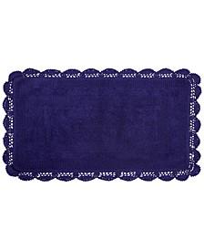 "Crochet Cotton Reversible 24"" x 40"" Bath Rug"