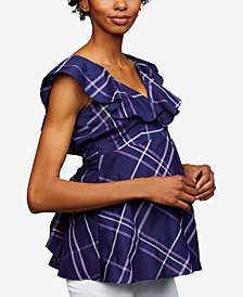 A Pea In The Pod Maternity Ruffled Blouse