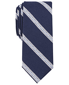 Bar III Men's Petra Stripe Skinny Tie, Created for Macy's