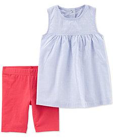 Carter's Toddler Girls 2-Pc. Striped Top & Tumbling Shorts Set