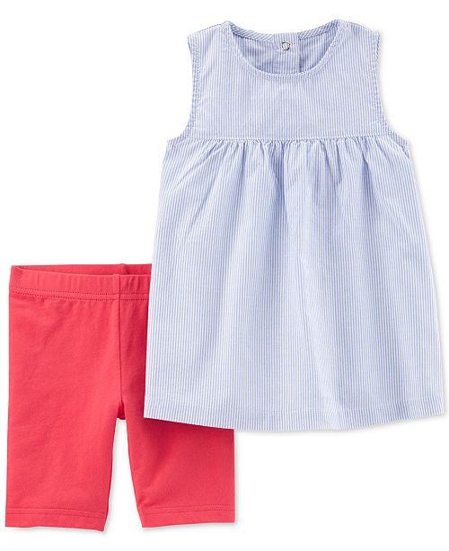 d7d4c291fea3 Carter s Toddler Girls 2-Pc. Striped Top   Tumbling Shorts Set ...