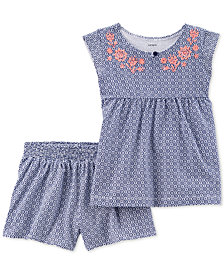 Carter's Toddler Girls 2-Pc. Printed Top & Shorts Set