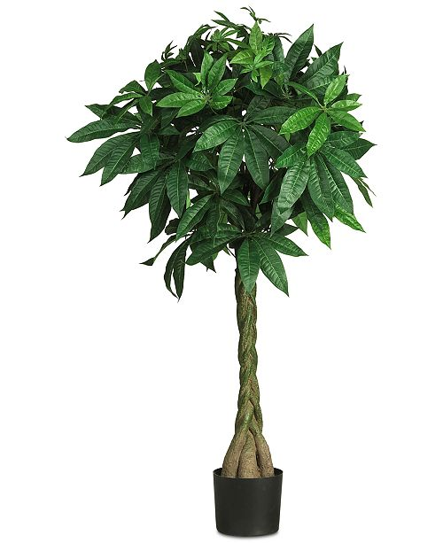 """Nearly Natural 51"""" Artificial Braided Money Tree"""
