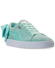Puma Women's Suede Bow Casual Sneakers from Finish Line