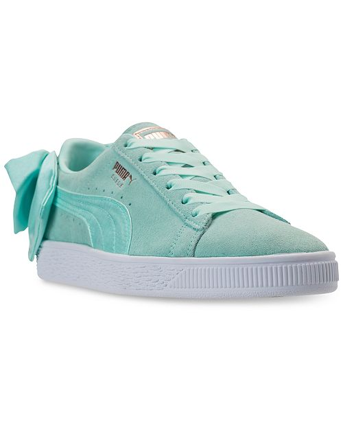 4004ac1aa0a Puma Women's Suede Bow Casual Sneakers from Finish Line & Reviews ...