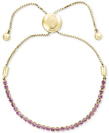 EFFY® Pink Sapphire Slider Bracelet (1-1/2 ct. t.w.) in 14k Gold