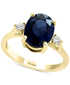EFFY® Sapphire (2-7/8 ct. t.w.) & Diamond (1/8 ct. t.w.) Ring in 14k Gold