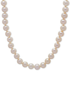"Cultured Freshwater Pearl (7-8mm) Strand 18"" Collar Necklace"