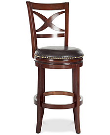 Trevon Swivel Bar Stool, Quick Ship