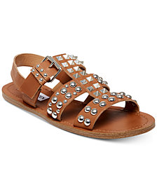 Steve Madden Women's Sharon Studded Flat Sandals
