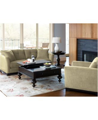 What To Put On A Coffee Table paula deen table, put your feet up coffee table - furniture - macy's