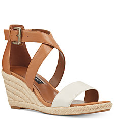 Nine West Jorgapeach Wedge Sandals