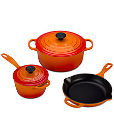 Le Creuset 5-Pc. Cast Iron Cookware Set