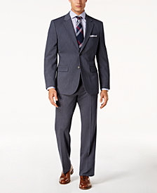 Nautica Men's Modern-Fit Active Stretch Blue Corded Suit