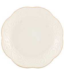 Lenox Dinnerware, Set of 4 French Perle Dessert Plates