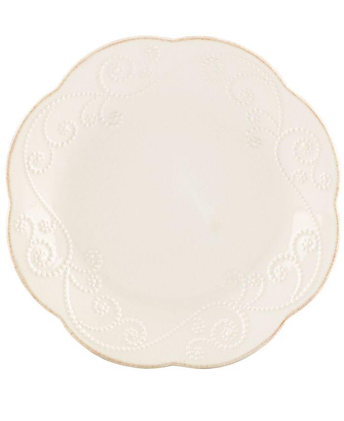 Lenox - Set of 4 French Perle White Dessert Plates