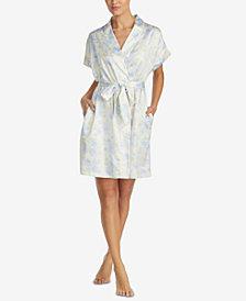 Lauren Ralph Lauren Satin Printed Robe