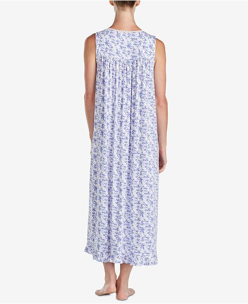 Eileen West Ballet Lace-Trim Ruffle-Hem Knit Nightgown 05sLk