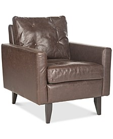Olden Faux Leather Accent Chair, Quick Ship