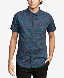 RVCA Men's Happy Thoughts Floral-Print Pocket Shirt