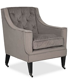 Temkin Accent Chair with Casters, Quick Ship