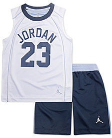 Jordan Little Boys 2-Pc. AJ 23 Flight Musle Tank Top & Shorts Set