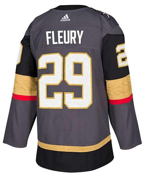 official photos f90c6 af1b2 ... adidas Men s Marc-Andre Fleury Vegas Golden Knights adizero Authentic  Pro Player Jersey ...