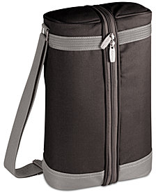 Picnic Time Estate Black & Gray Wine Tote