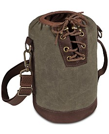 Legacy® by Picnic Time Insulated Khaki Green & Brown Growler Tote