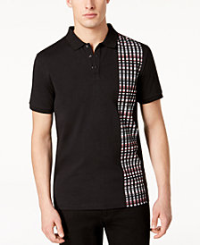 Calvin Klein Men's Digital Panel-Print Polo