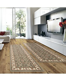 KM Home Prato Meshed Sage 2-Pc. Runner Rug Set
