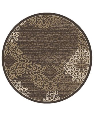 "CLOSEOUT! Teramo Intrigue 5'3"" Round Area Rug"