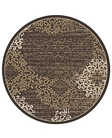 "CLOSEOUT! Teramo Intrigue 7'10"" Round Area Rug"