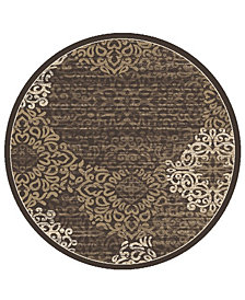 "KM Home Teramo Intrigue 5'3"" Round Area Rug"