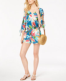 La Blanca Go with the Flo-Ral Printed Romper Cover-Up