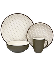 Sango Celestial Gray 16-Pc. Dinnerware Set