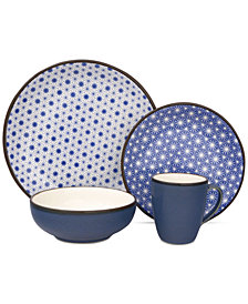 Sango Celestial Blue 16-Pc. Dinnerware Set