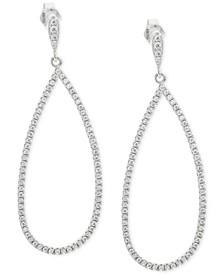 Cubic Zirconia Pavé Teardrop Drop Earrings in Sterling Silver, Created for Macy's