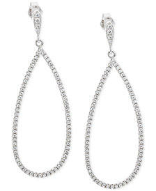 Giani Bernini Cubic Zirconia Pavé Teardrop Drop Earrings in Sterling Silver, Created for Macy's