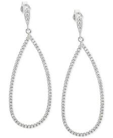 Giani Bernini Cubic Zirconia Pavé Teardrop Drop Earrings in Sterling Silver, Created for Macy's