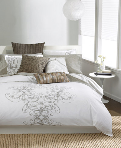 CLOSEOUT! Bar III Vintage Scroll Bedding Collection