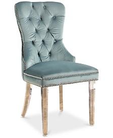 Hevia Velvet Dining Chair, Quick Ship