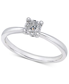 Diamond Solitaire Ring (1/5 ct. t.w.) in 10k White Gold