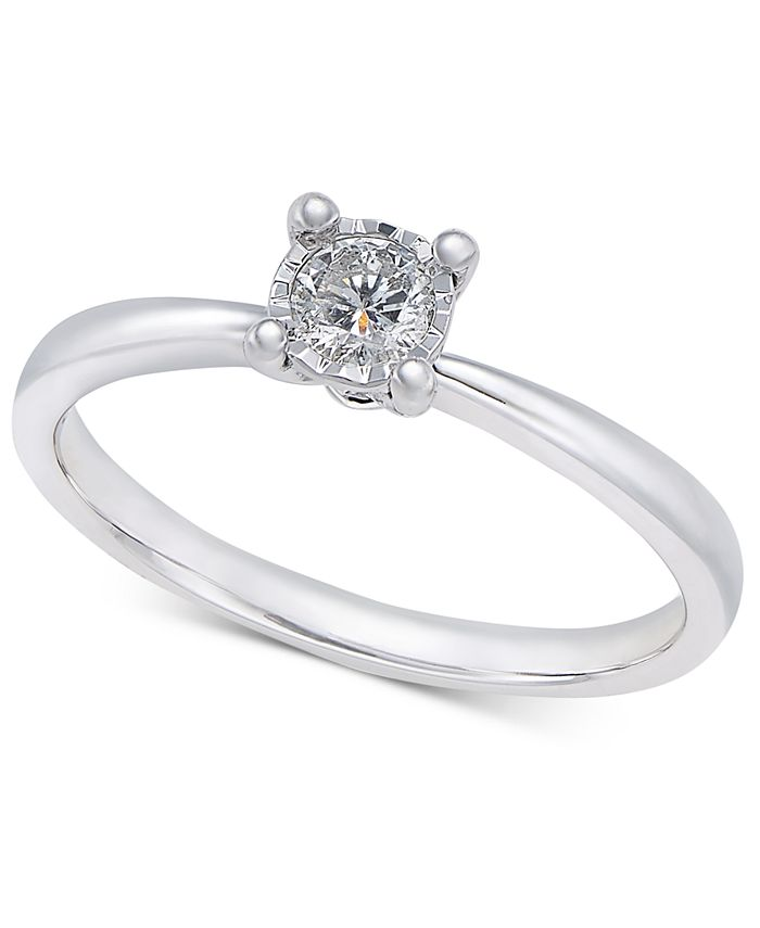 Promised Love - Diamond Solitaire Ring (1/5 ct. t.w.) in 10k White Gold