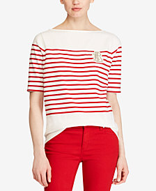 Lauren Ralph Lauren Boatneck Cotton T-Shirt